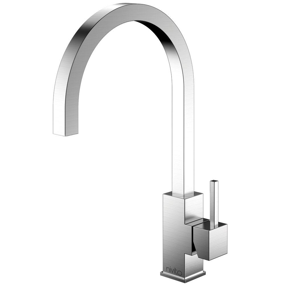 الفولاذ المقاوم للصدأ حنفية المطبخ - Nivito SP-100