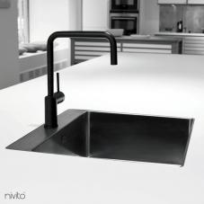 صنبور مطبخ أسود