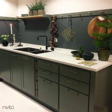 أسود صنبور المطبخ - Nivito 14-RH-320