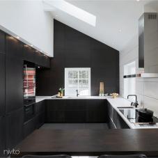 مطبخ مياه صنبور أسود