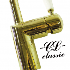 Gold brass mixer tap single lever mono tap