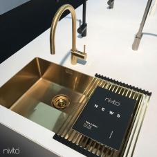 نحاس/ذهب حوض المطبخ - Nivito 1-CU-500-180-BB