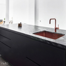 حوض المطبخ نحاسي