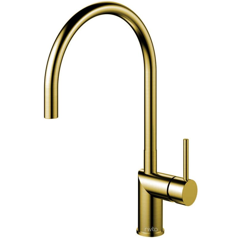 Brass/Gold Kitchen Mixer Tap - Nivito RH-140