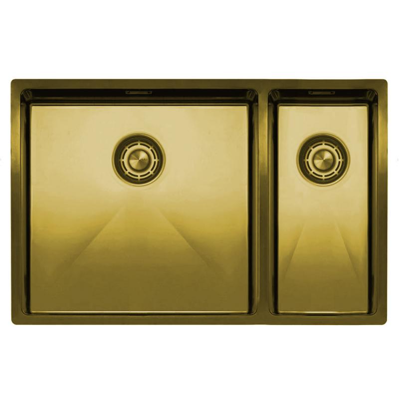 Brass/Gold Kitchen Sink - Nivito CU-500-180-BB