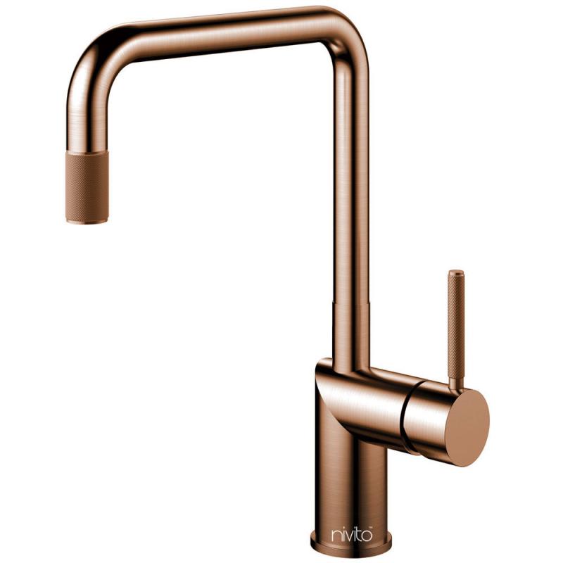 Copper Kitchen Mixer Tap Pullout hose - Nivito RH-350-EX-IN