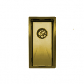 Brass/Gold Kitchen Basin - Nivito CU-180-BB