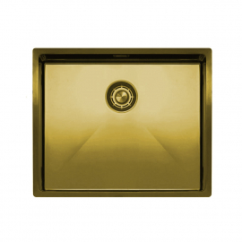 Brass/Gold Kitchen Basin - Nivito CU-500-BB