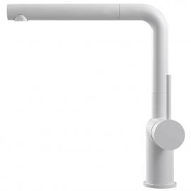 أبيض حنفية المطبخ خرطوم السحب - Nivito RH-630-EX