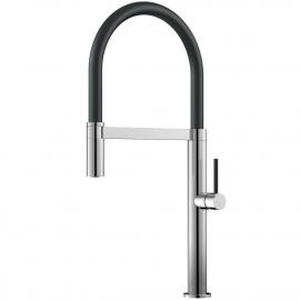 صنبور المطبخ خرطوم السحب / مصقول / أسود - Nivito SH-210